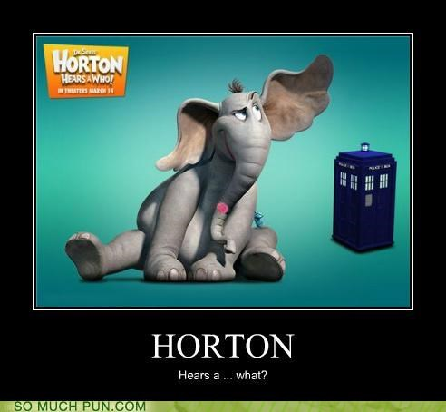 doctor who double meaning dr seuss elephant Hall of Fame horton horton hears a who literalism tardis