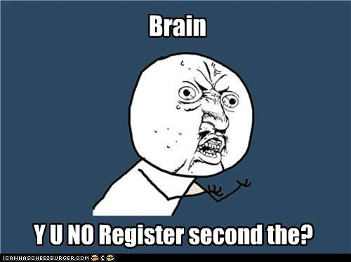 bird brain register the tricks Y U No Guy