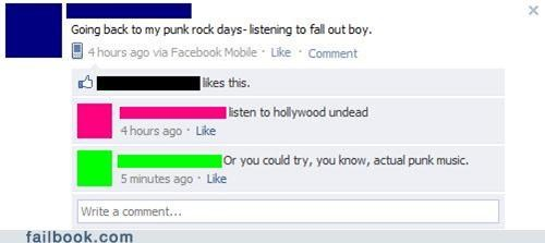facepalm,fall out boy,Featured Fail,hollywood undead,punk rock