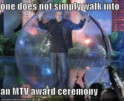 actors,awards shows,gary busey,mordor,mtv,one does not simply walk,plastic bubble,roflrazzi