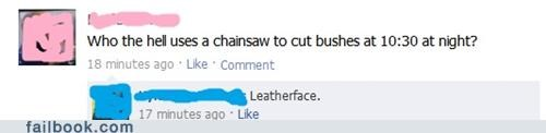 chain saw hedges the texas chainsaw massacre leatherface