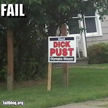 failboat,name fail,p33n,politics,signs