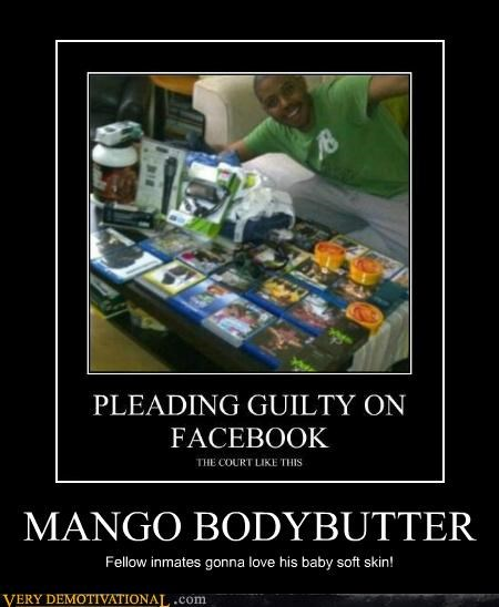MANGO BODYBUTTER Fellow inmates gonna love his baby soft skin!