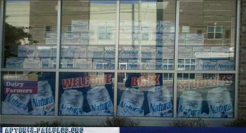 advertising back to school beer sale store
