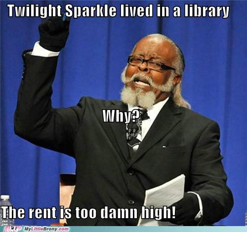 jimmy mcmillan library the rent is too damn high twilight sparkle - 5093399040
