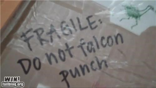 box falcon punch fragile moving packing smash brothers - 5093671168