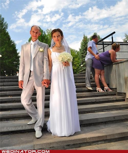 bride funny wedding photos groom photobomb - 5093674752