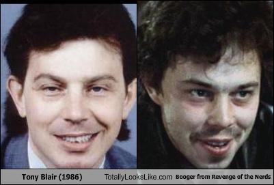 Tony Blair (1986) Totally Looks Like Booger from Revenge of the Nerds