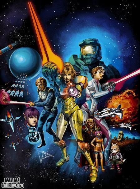 collage nerdgasm poster star wars video games - 5094384128