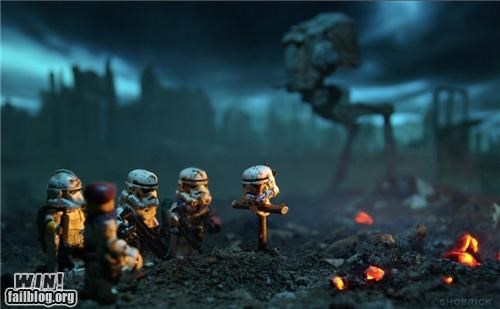 Battle battlefield legos memorial nerdgasm star wars stormtrooper