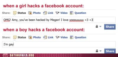 facebook,hacked,men and women,We Are Dating,women and men