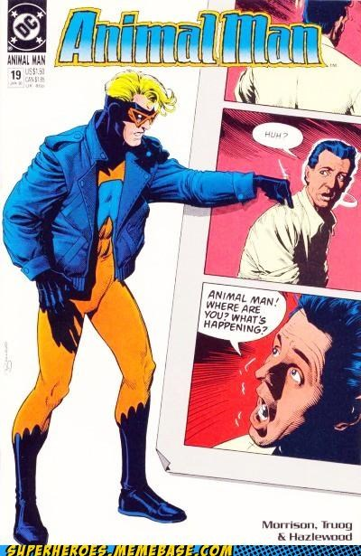 animal man,cover,grant morrison,over here
