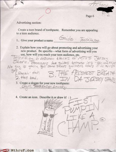 advertising bros jersey shore school test - 5094725120