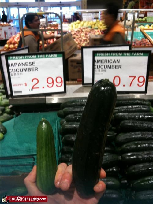 cucumber market oh Japan size vegetables