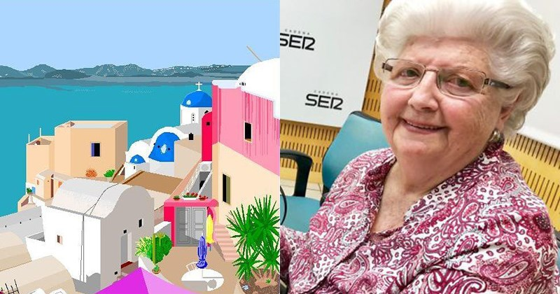 Spanish grandmother creates masterpieces with ms paint, concha garcia zaera, computers, viral.