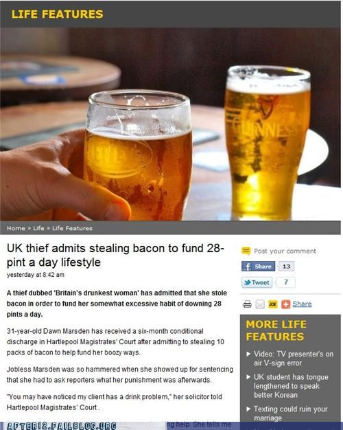 bacon booze crime news stealing - 5094988544