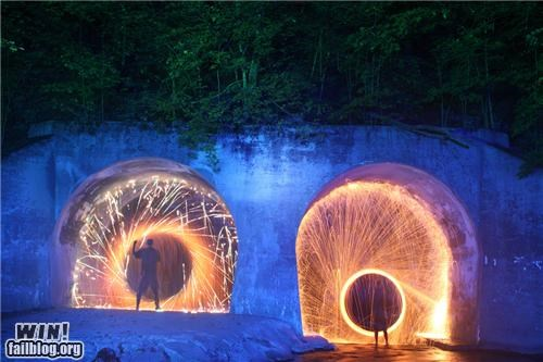 exposure time light night ooh shiny photography time lapse tunnel