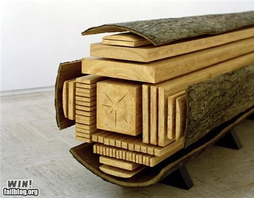 art,gallery,log,lumber,tree
