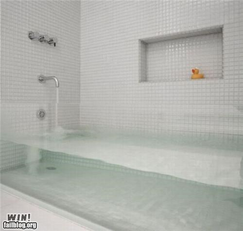 bathroom bathtub design glass home invisible - 5095255296