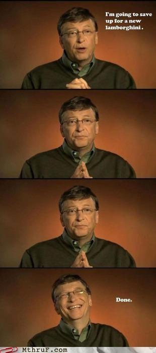 Bill Gates cars lamborghini rich saving - 5095297536