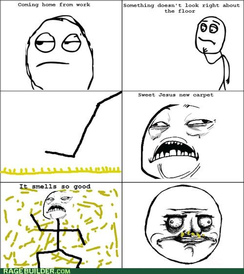 carpet,new carpet smell,off gassing,out gassing,Rage Comics,sweet jesus have mercy