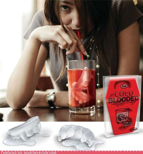 fangs ice ice cubes teeth vampires - 5095384320