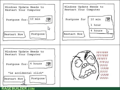 fu guy,Rage Comics,restart,windows update