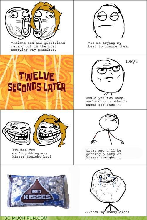 double meaning,forever alone,kisses,literalism,meme,rage comic,Rage Comics