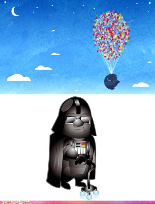 art,cool,darth vader,disney,sci fi,star wars,up