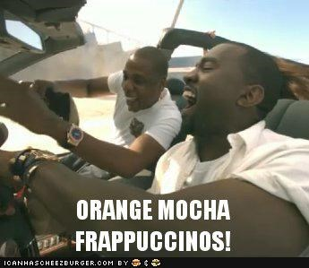 driving,frappuccinos,Jay Z,kanye west,musicians,rappers,roflrazzi,zoolander