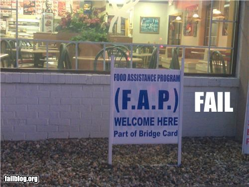 acronym failboat fap innuendo p33n signs - 5096477696