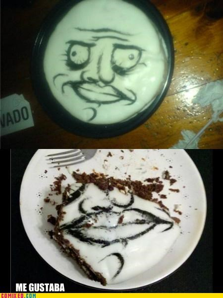 cake food me gusta rage face the internets - 5096692992