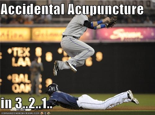 accidental acupuncture baseball cleats ouch sports Up Next in Sports - 5097072640