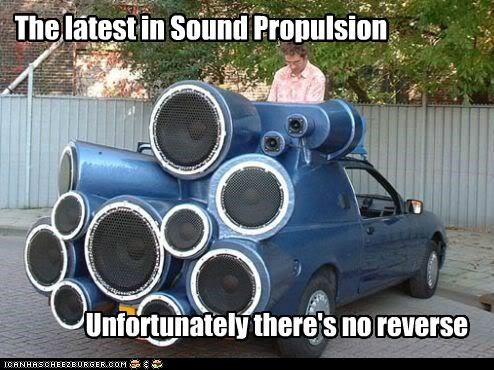 cars,loud,reverse,sound,sound propulsion,speakers,wtf