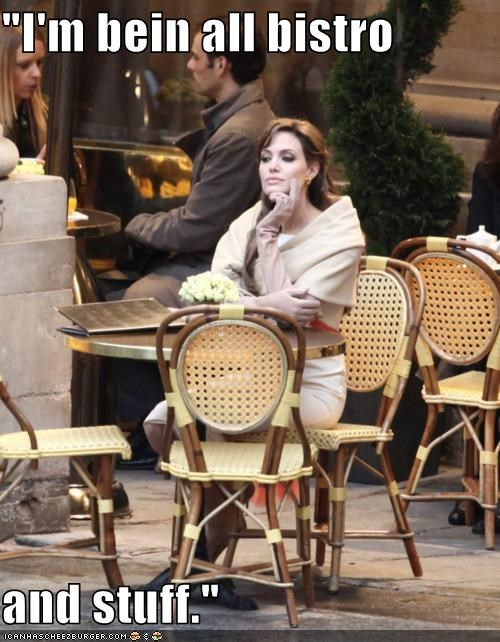 actresses,Angelina Jolie,bistro,celeb,dumb,roflrazzi,wtf