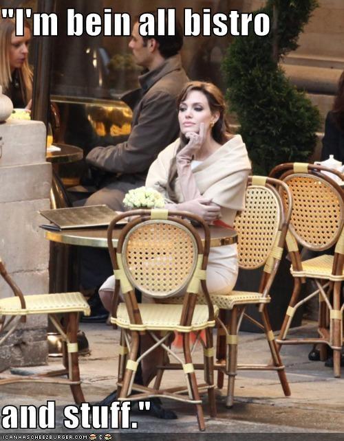 actresses Angelina Jolie bistro celeb dumb roflrazzi wtf - 5097257472
