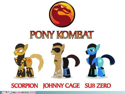 crossover Mortal Kombat pony kombat Videogames - 5098153472