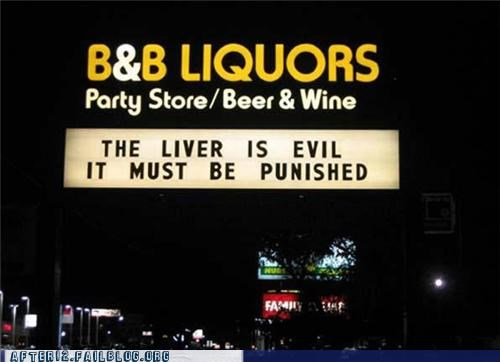 booze evil Hall of Fame justice liquor store liver punishment