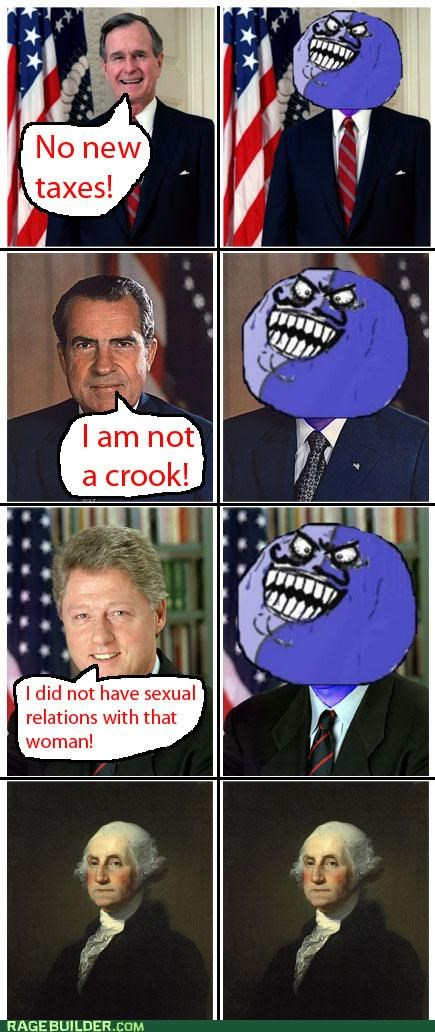 honest i lied presidents Rage Comics washington - 5098295552