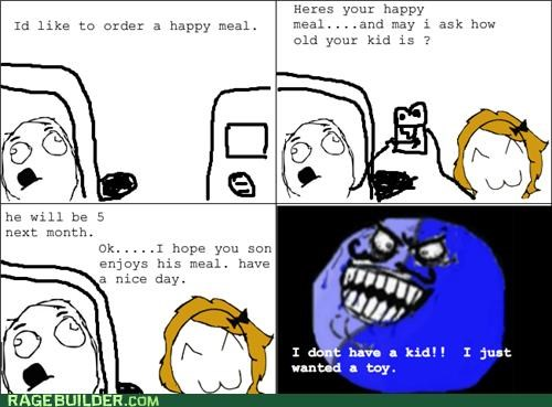 fast food happy meal i lied McDonald's Rage Comics - 5098302976