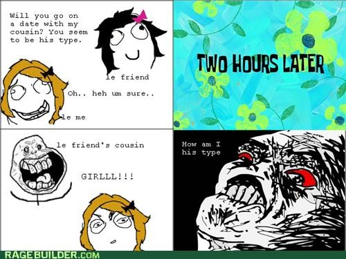 Awkward,cousin,date,Rage Comics,wtf