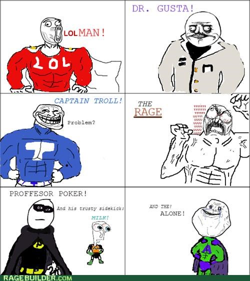 forever alone,gusta,heroes,Rage Comics,the hulk,villains
