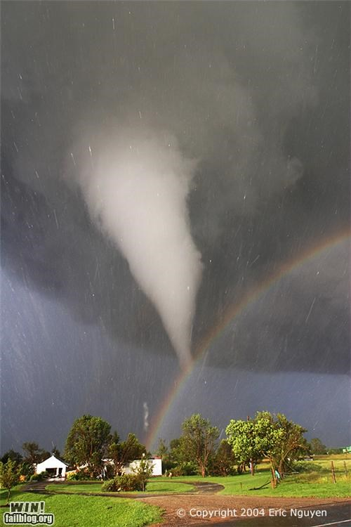 mother nature ftw,rainbow,schizophrenic,storm,tornado