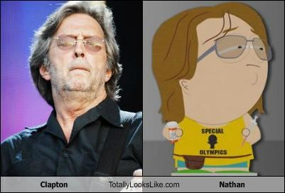blues cartoons cartoon characters eric clapton glasses guitarists musicians nathan South Park - 5098569984