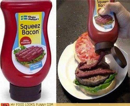 bacon bottle condiment label packaging squeeze