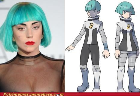 blue,hair,IRL,lady gaga,team galactic