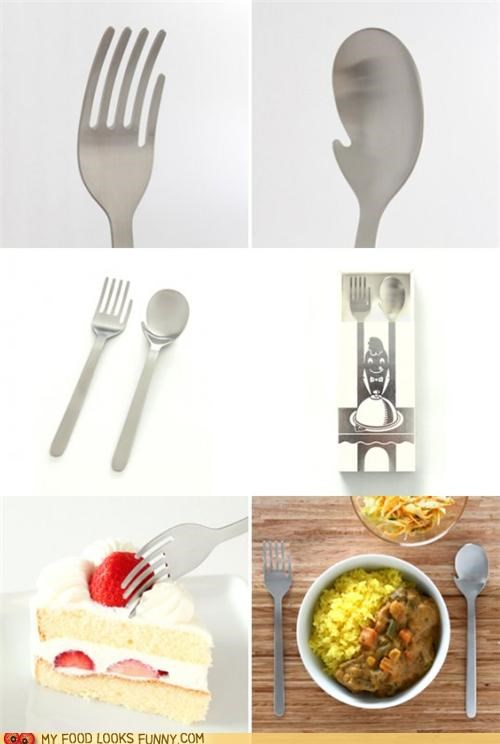 flatware,fork,hands,mitten,spoon