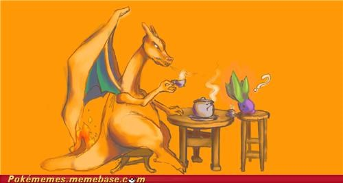 charizard,oddish,Pokémans,tea time