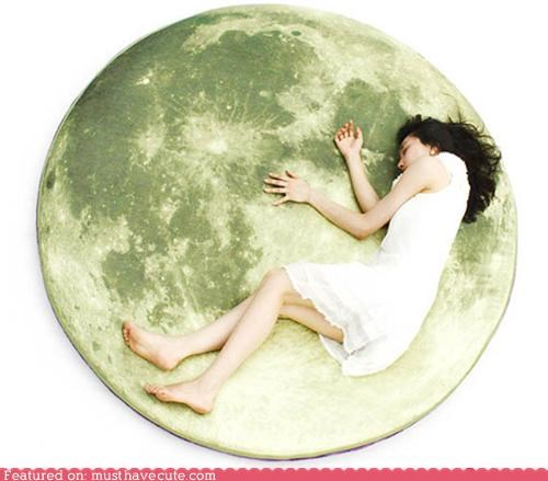 floor moon nap Pillow print - 5098964992