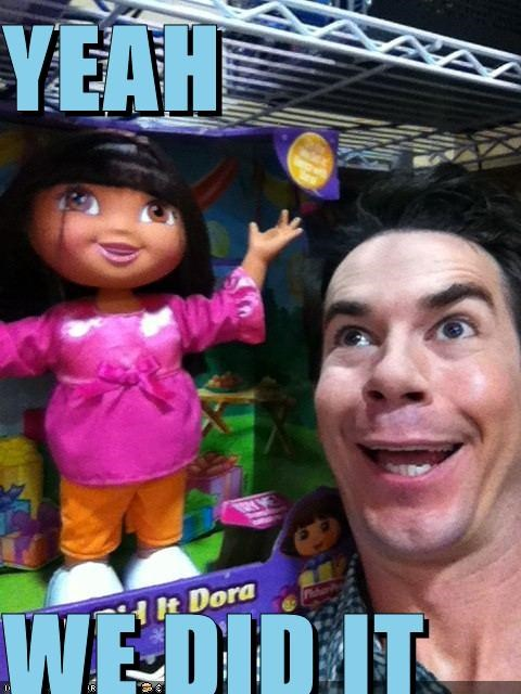 derp,dora the explorer,guy,store,toy,we did it